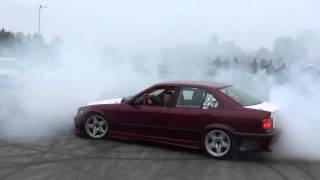 BMW E36 ENGINE INLET SOUND AND BIG BURNOUT